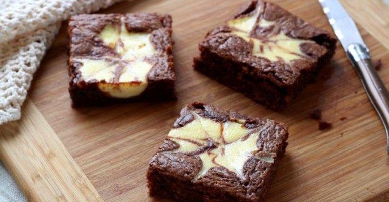 Prepare um delicioso Brownie marmorizado