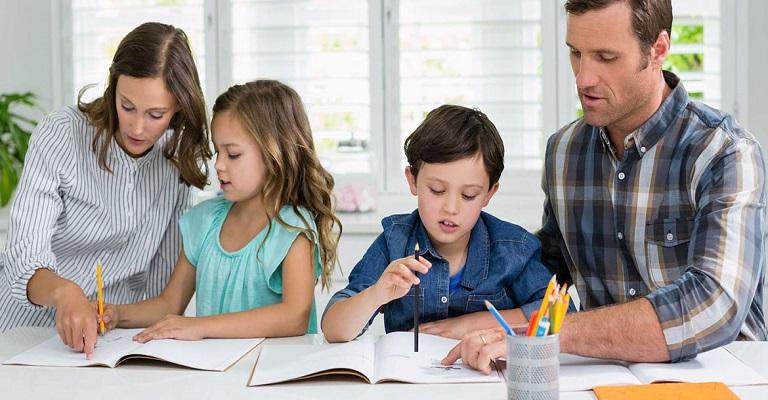 Como estudar em casa com as crianças?