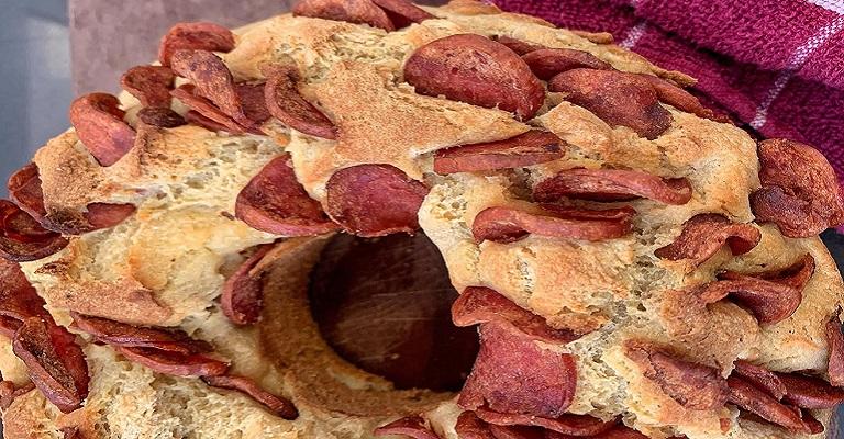 Receita de pão de calabresa com erva doce