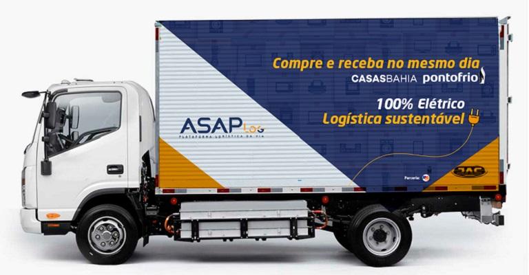 Via Varejo integra frota elétrica em operação logística