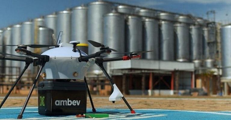 Ambev testa entrega de bebidas com drone no interior de SP