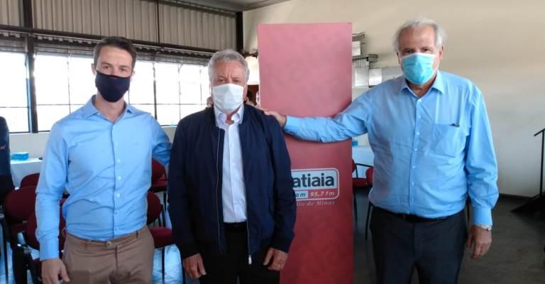 Rubens Menin e Emanuel Carneiro apresentam presidente e diretores da Rádio Itatiaia