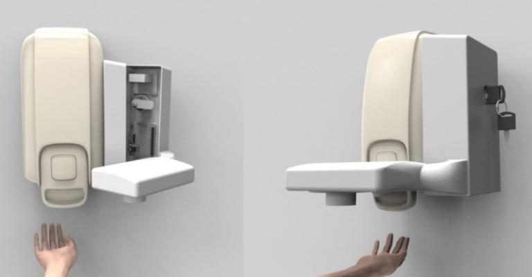 Startup cria higienizador de mãos com leitura biométrica para uso em hospitais