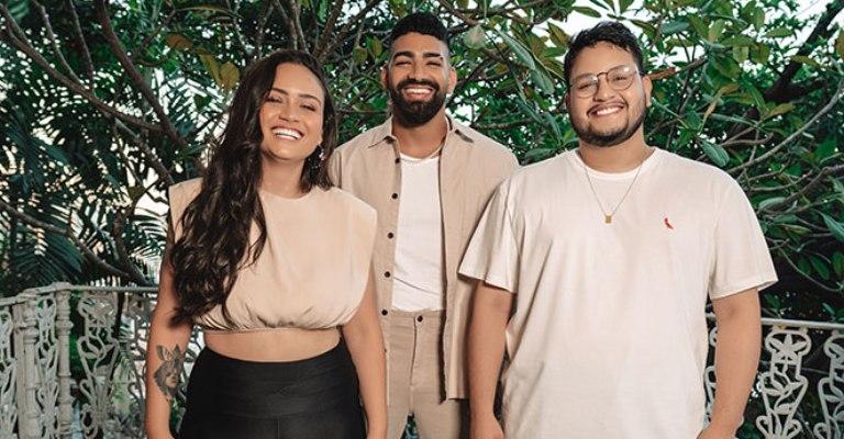Luiza e Maurilio gravam clipe com participação de Dilsinho