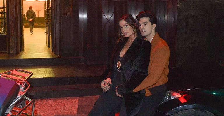 Luan Santana grava com Natalia Barulich