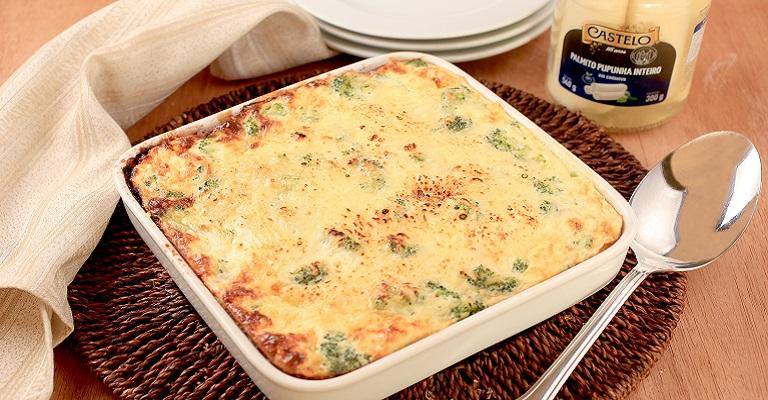 Torta Low Carb de Palmito e Brócolis