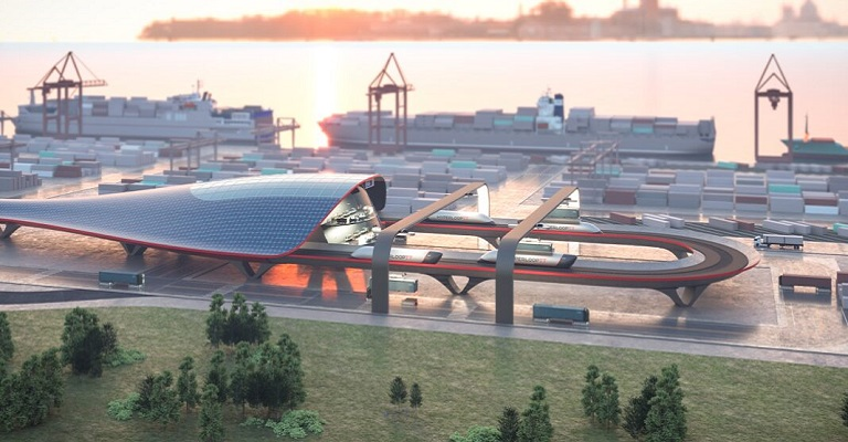 Empresa lança projeto de transporte de carga em alta velocidade para portos