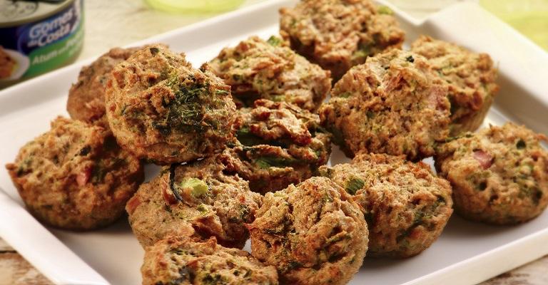 Muffin de brócolis com atum + 2 receitas